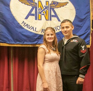Sailor of the Quarter Tyler Schwartzybarra and wife Elizabeth