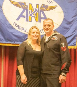 Sailor of the Year Jeremy Frick and wife Trisha