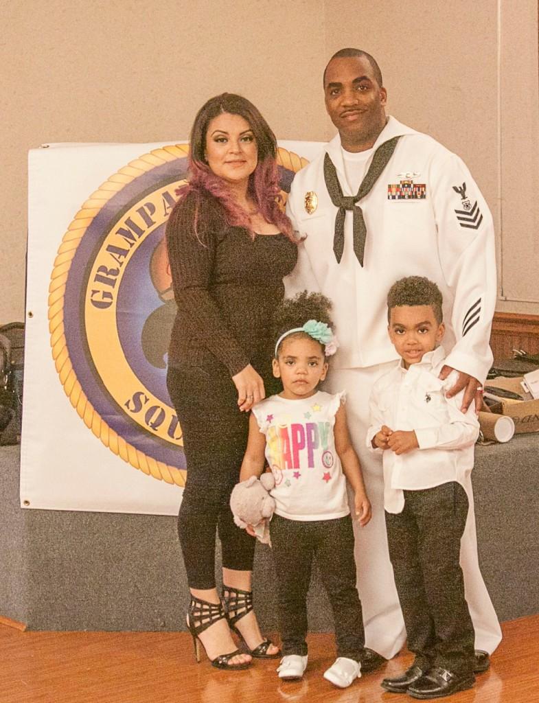 MA1 Battle, Wife Jannett and children Tashaun and Cataleye.
