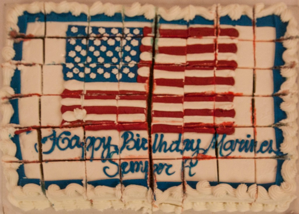 Cake for the Marine Corps Birthday
