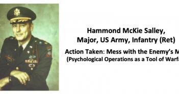 Speaker Briefing: Hammond McKie Salley , Major, US Army, Infantry (Ret)